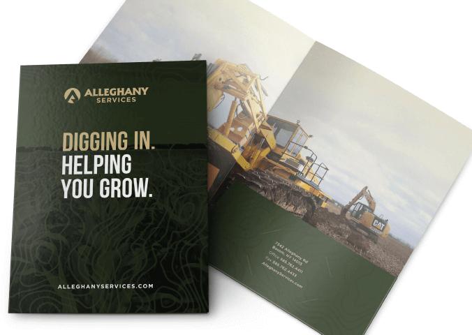 Alleghany Farm Service Folder Design