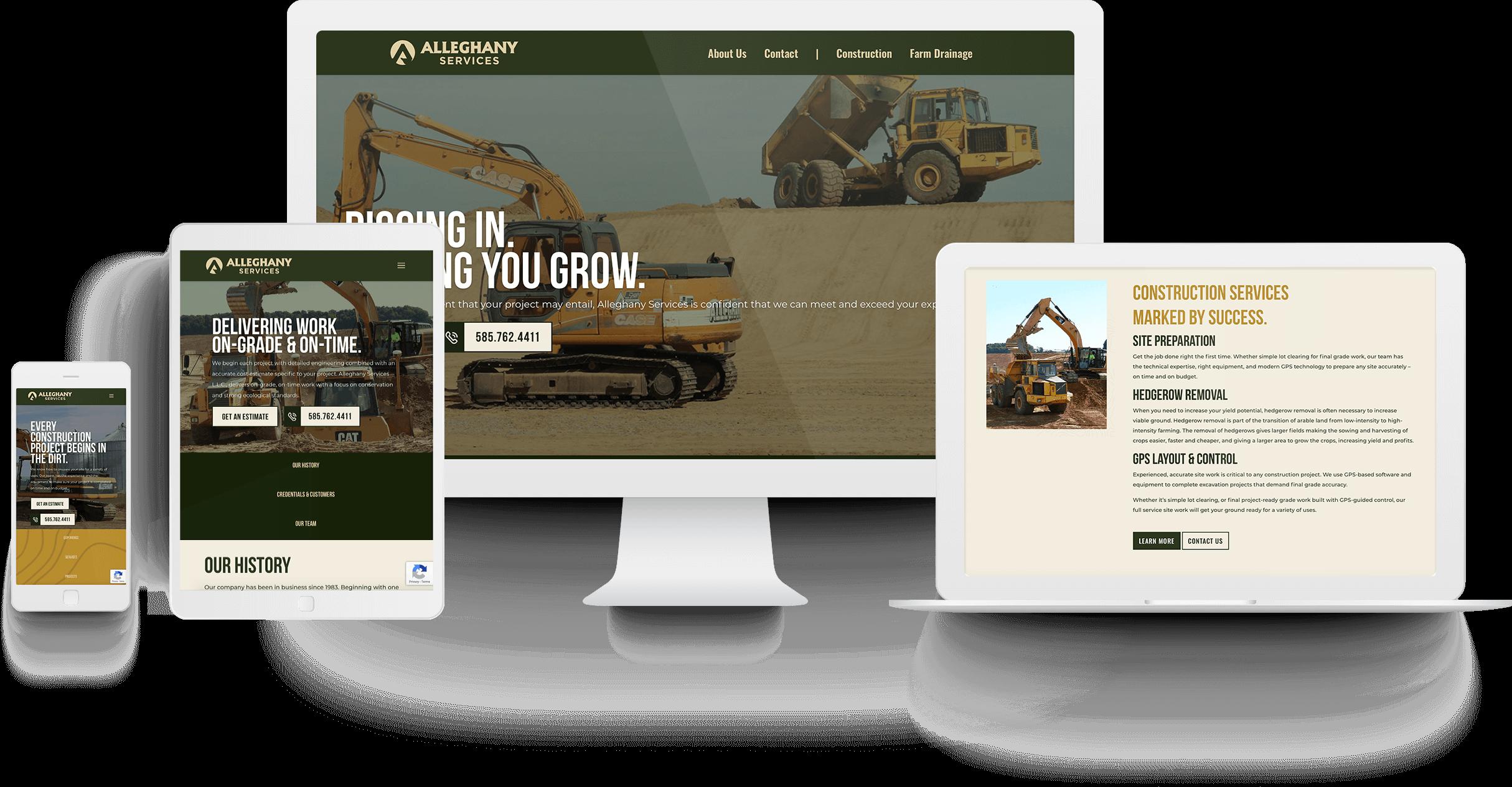 Alleghany Farm Services Website Design