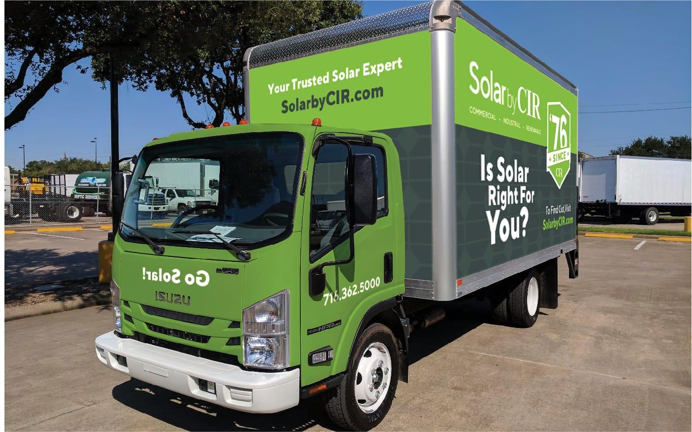 Solar by CIR truck wrap