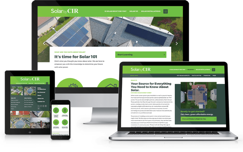 Solar by CIR Website Design