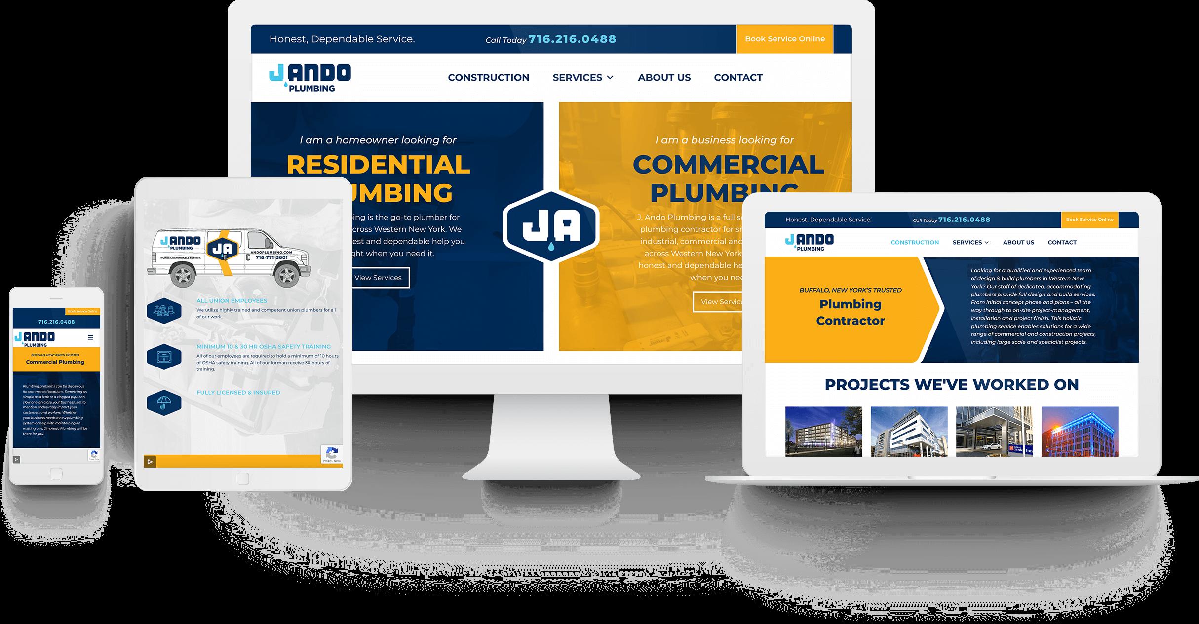 J. Ando Website Design