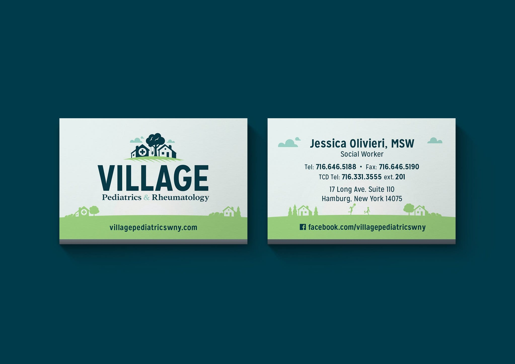 Village Pediatrics & Rheumatology Business Card Design