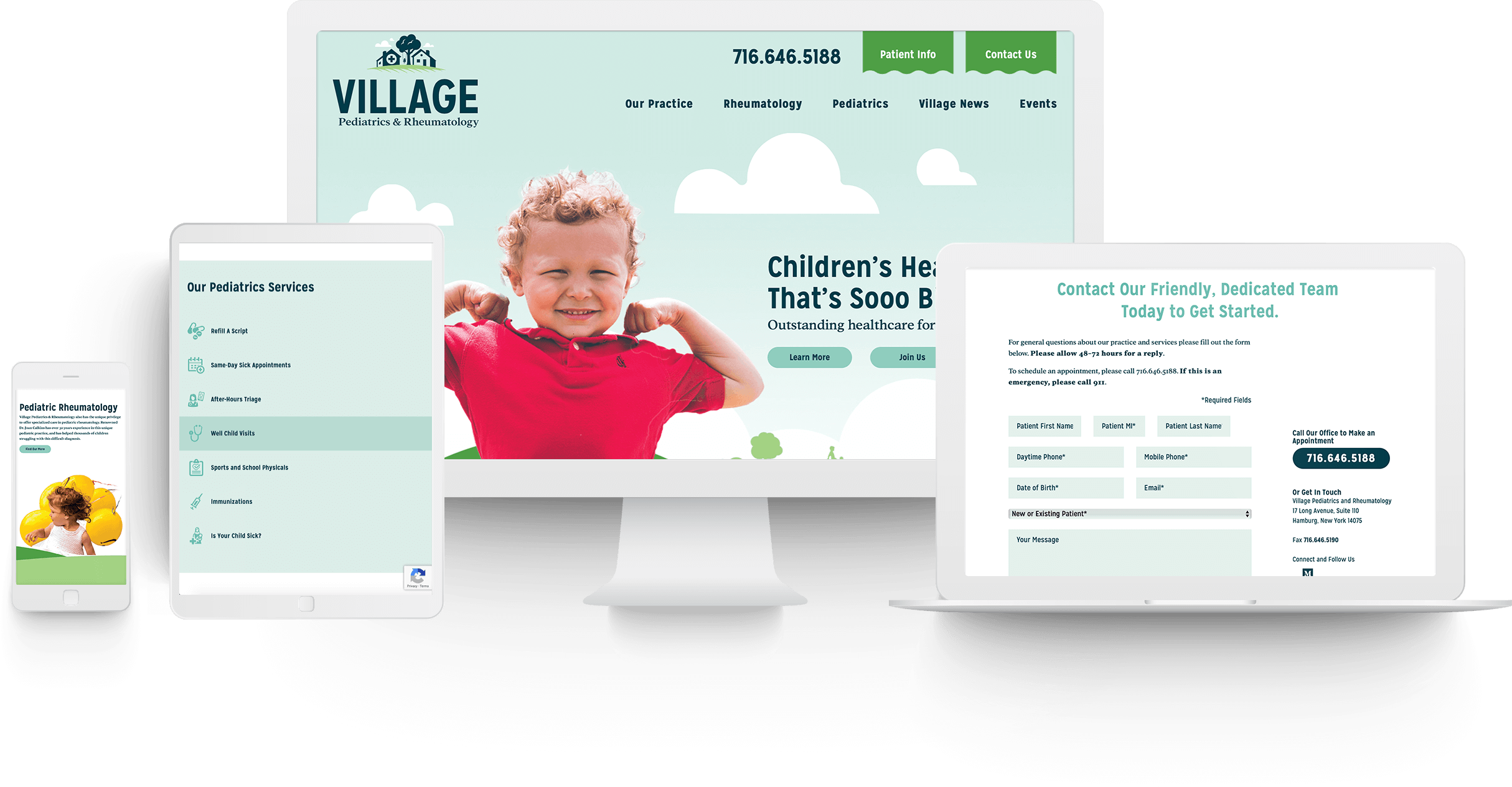 Village Pediatrics & Rheumatology Website Design