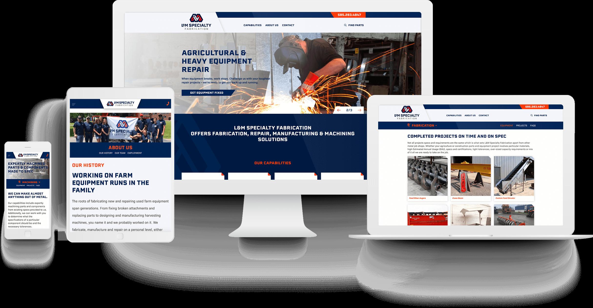 L&M Spec Fab Website Design