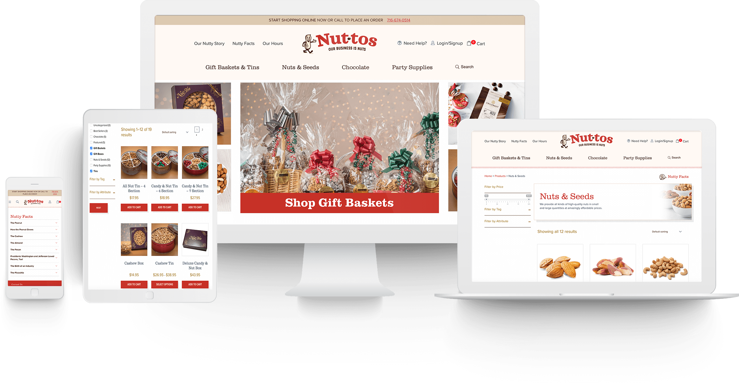 Nuttos Website Design