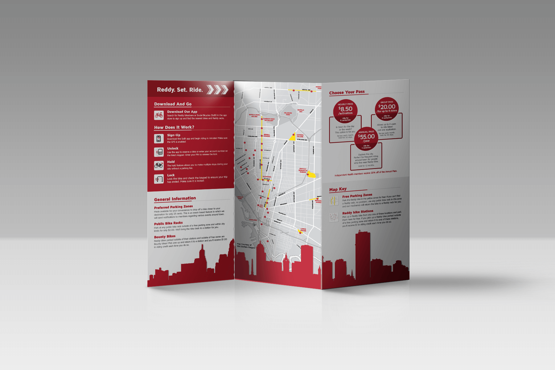 Reddy Bike Trifold Brochure Design
