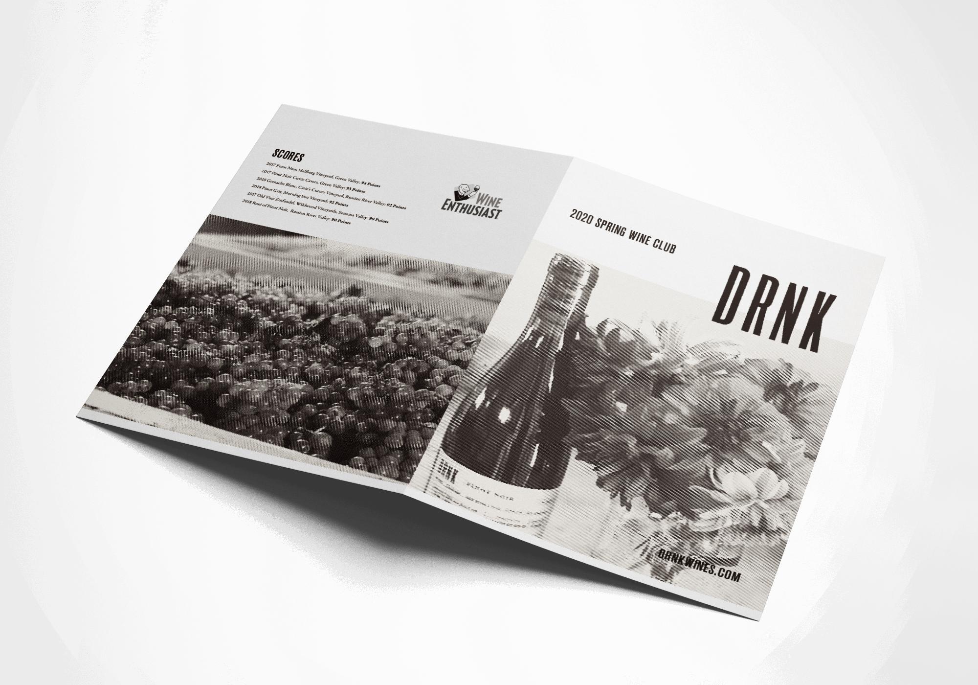 DRNK Wine Club Brochure