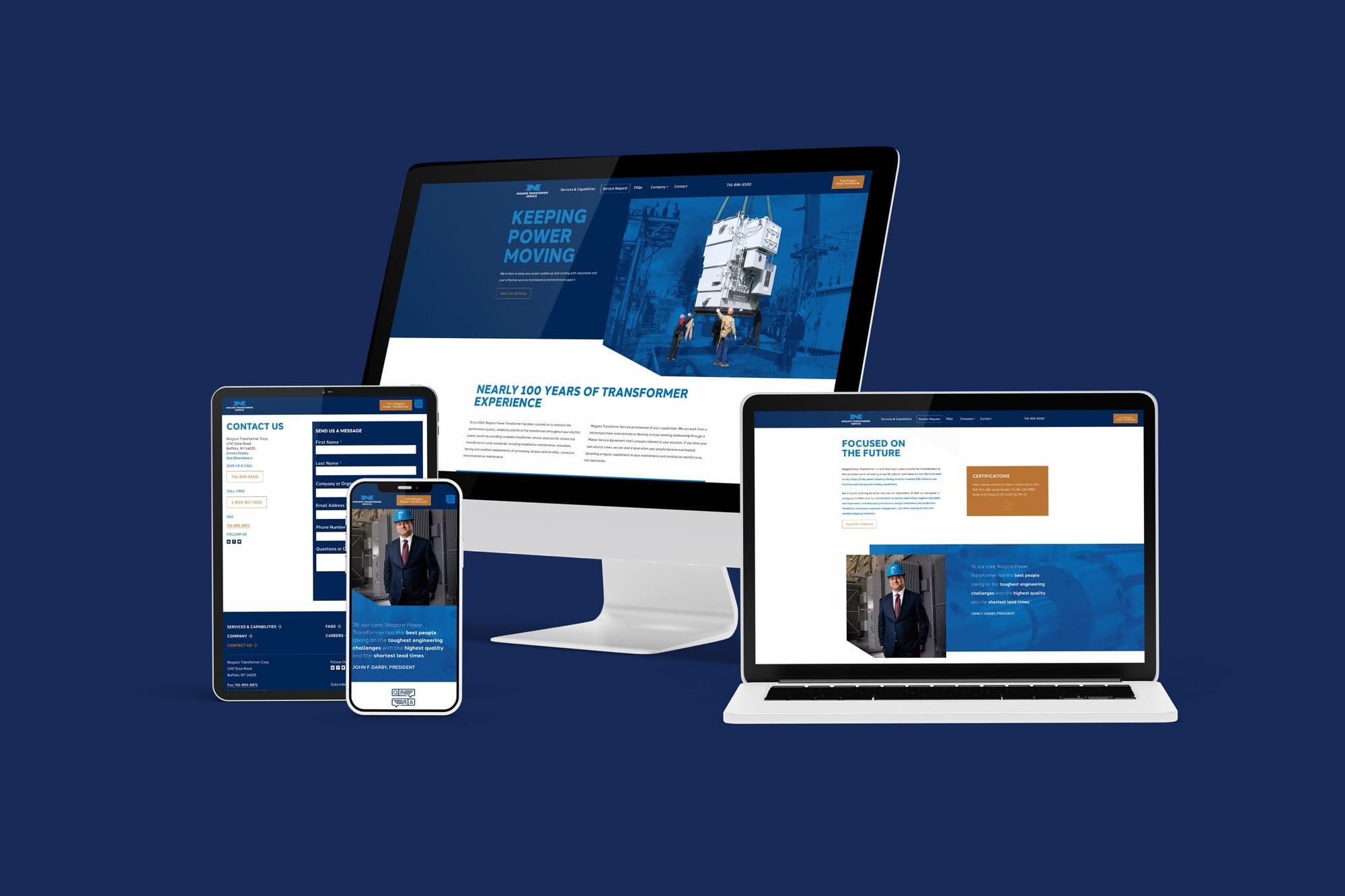 Niagara Transformer Service Website Design