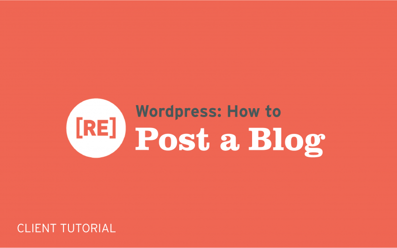 how to post a wordpress blog