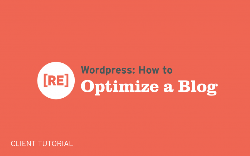 how to optimize seo for a wordpress blog