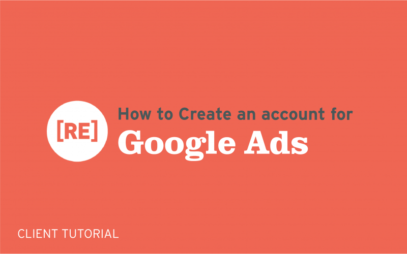 how to create an account for google ads